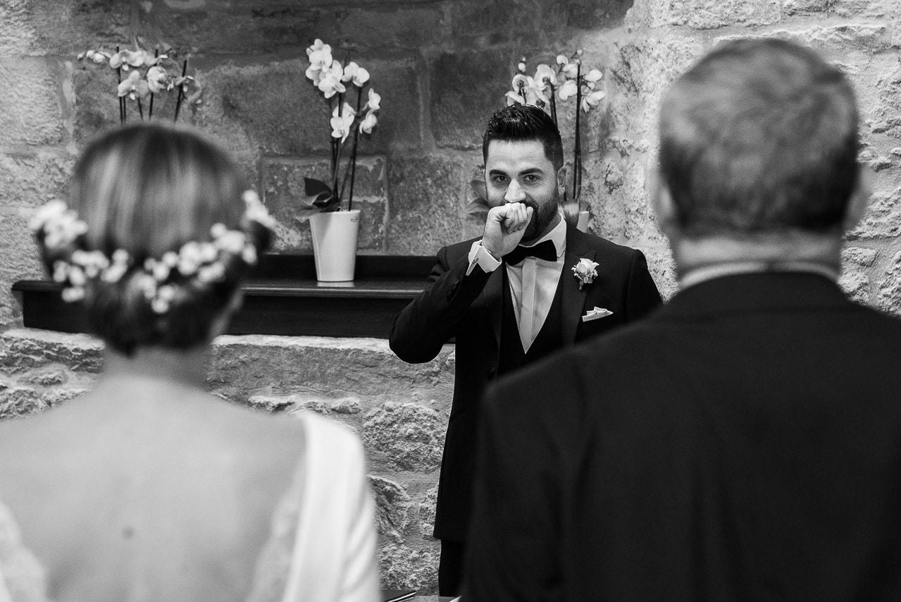 Marié découvant la mariée