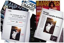 Magazines avec photos de mariage
