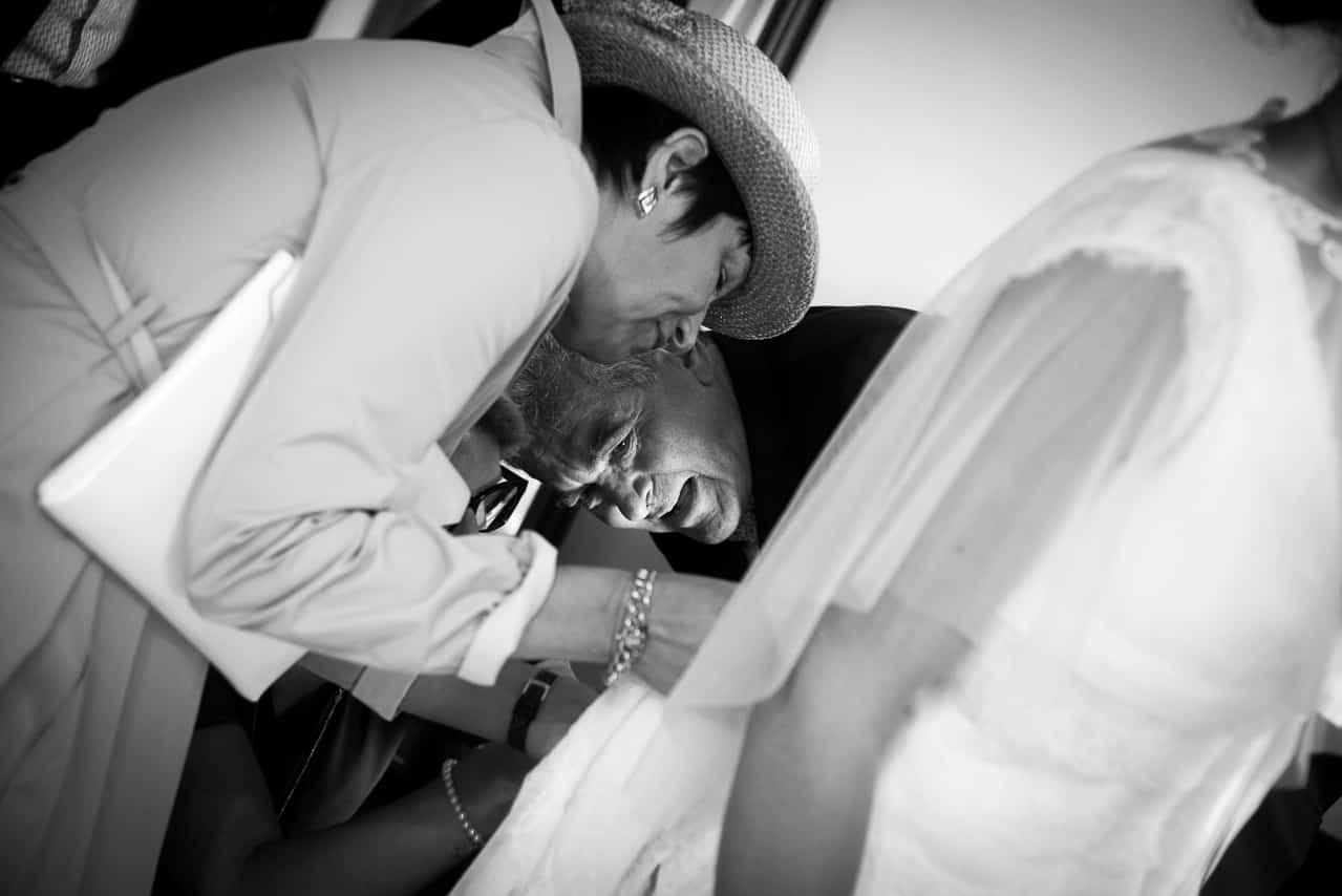Derniers détails sur la robe de la mariée