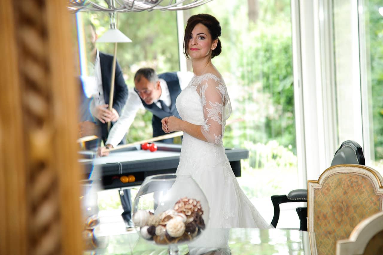 Mariée dans le manoir de Keringant