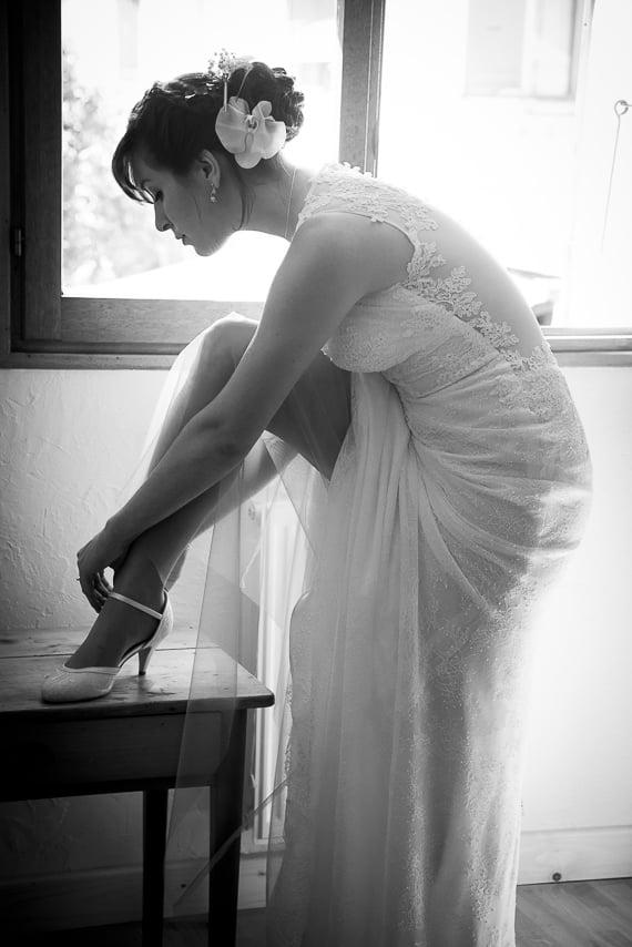 Mariée dans sa belle robe blanche