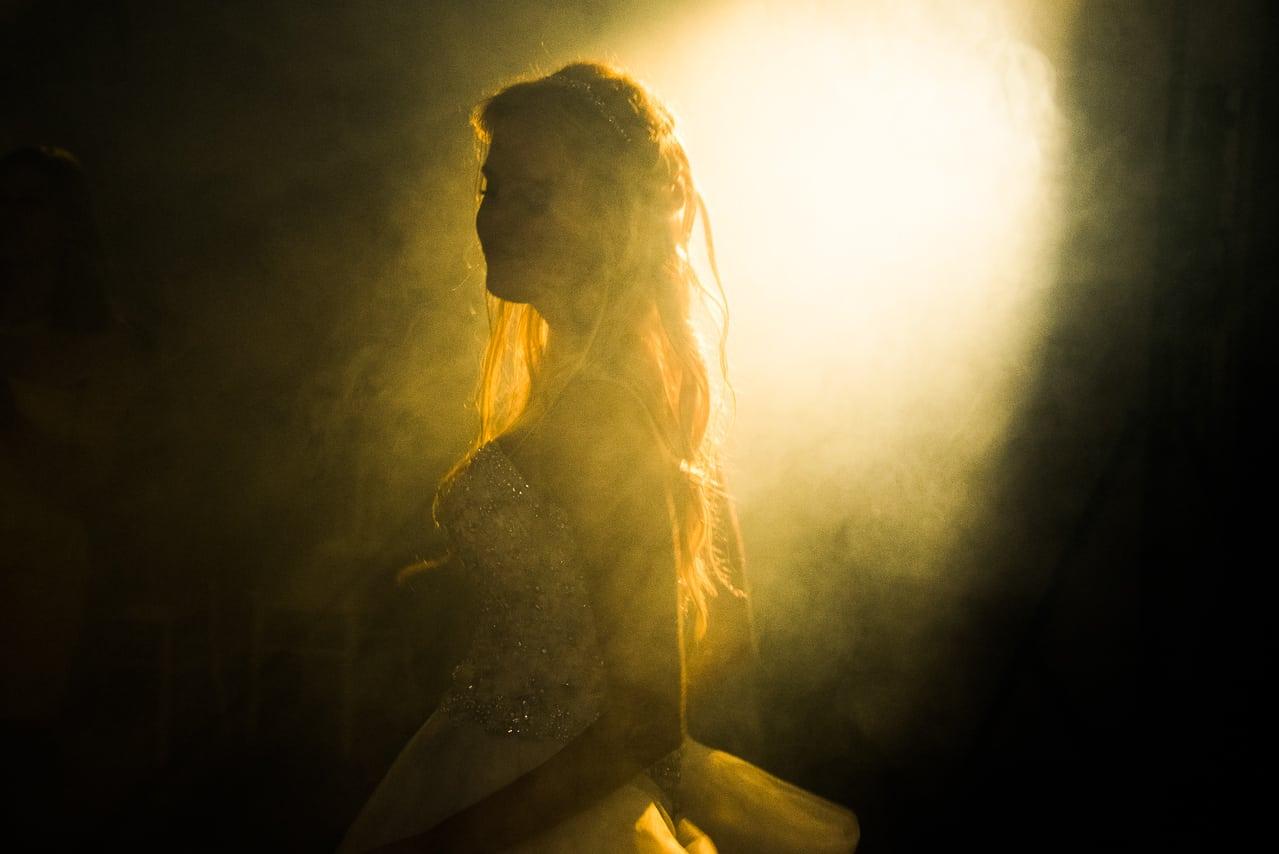 Mariée sur la piste de danse