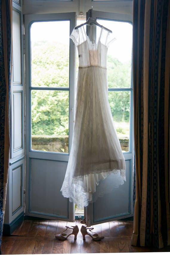 Elegante robe blanche de mariée