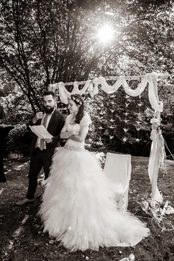 Discours des mariés pendant la cérémonie de  mariage