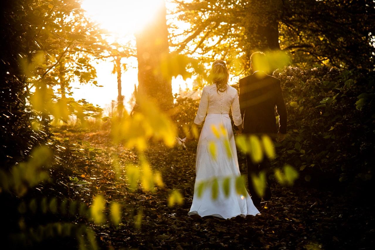 Mariés dans la nature