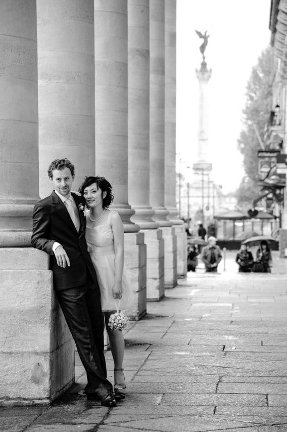Les mariés dans la ville
